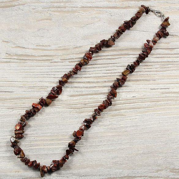 Poppyjáspis, törmelékköves, 50 cm-es nyaklánc