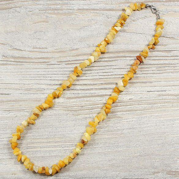 Sárga jáde, törmelékköves, 50 cm-es nyaklánc