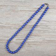 Shell Pearl, kék, matt, golyós, 8 mm, 45 cm-es nyaklánc