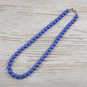 Shell Pearl, kék, matt, golyós, 8 mm, 40 cm-es nyaklánc