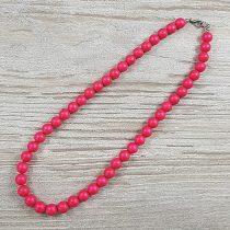 Shell Pearl, pink, matt, golyós, 8 mm, 40 cm-es nyaklánc
