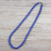 Shell Pearl, kék, matt, golyós, 8 mm, 50 cm-es nyaklánc