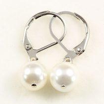 Shell Pearl fülbevaló, golyós, 1 db-os, fehér
