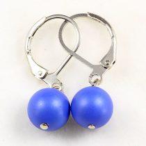 Shell Pearl fülbevaló, golyós, 1 db-os, matt, kék