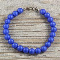 Shell Pearl, kék, matt, golyós, 8 mm, karkötő