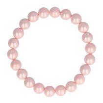 Shell Pearl, rózsaszín, matt, golyós, 8 mm, karkötő