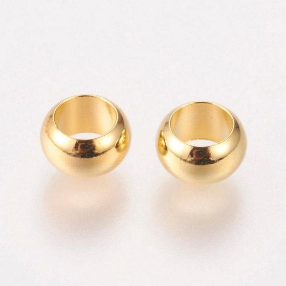 Baligyöngy, sima, arany színű, 7 mm (20 db)
