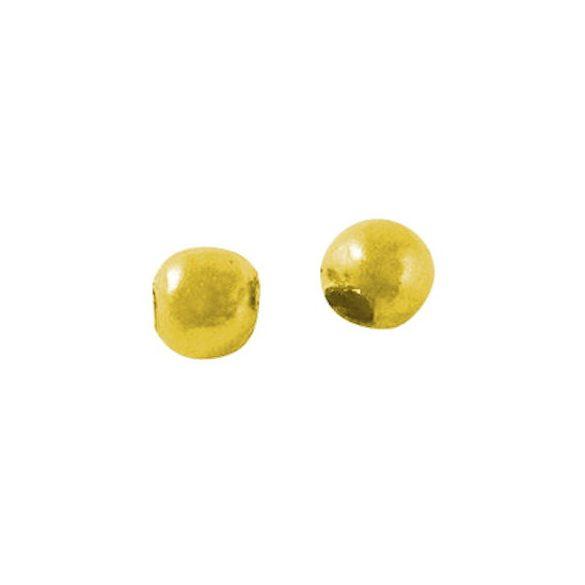 Golyó, 2 mm, Au szín (10 db)