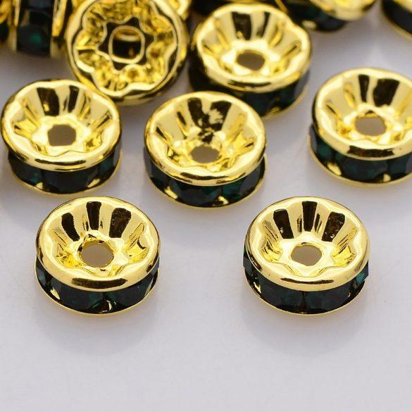 Rondella, arany, 6 mm, fekete (5 db)