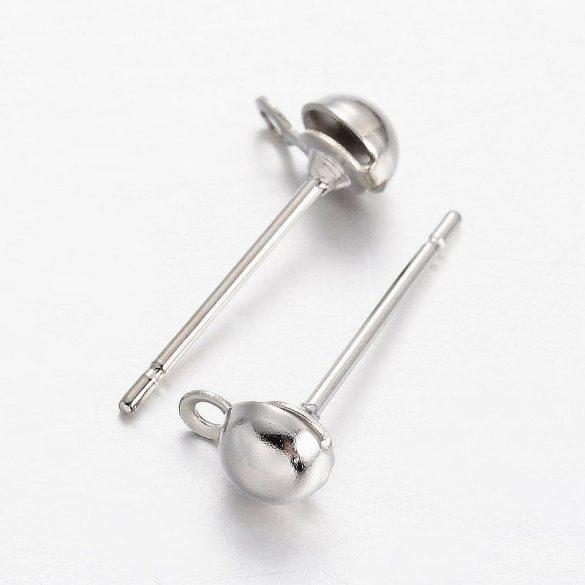 Fülbevaló stift, 4 mm, félgömbbel (20 db)