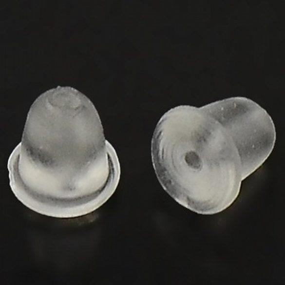 Fülbevaló hátlap, műanyag (kb. 100 db)