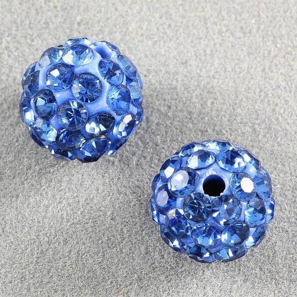 Shamballa golyó, kék, 8 mm (5 db)