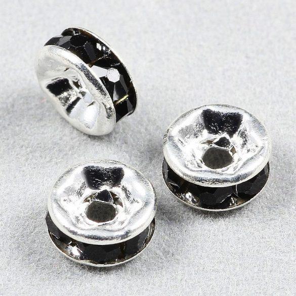 Rondella, 6 mm, fekete (5 db)