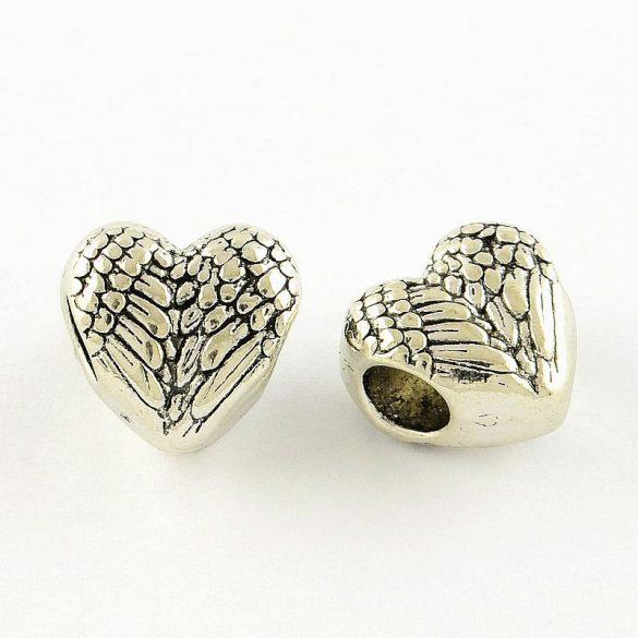 Köztes dísz, angyalszárnyas szív (10 db)