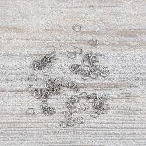Nemesacél karika, kb. 3x0,4 mm (100 db)