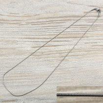 Nemesacél kígyólánc, kb. 45 cm, 0,8 mm vékony (1 db)