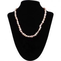 Barokk, lila tenyésztett gyöngy nyaklánc, 5-6 mm, 45 cm