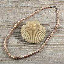 Potátó, lila tenyésztett gyöngy nyaklánc, 5-6 mm, 45 cm