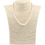 Potátó, fehér tenyésztett gyöngy nyaklánc, 5,5-6 mm, 40 cm (AA)