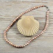 Potátó, lila tenyésztett gyöngy nyaklánc, 5-6 mm, 40 cm
