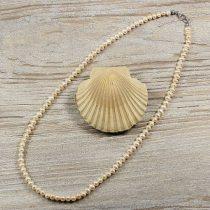 Potátó, fehér tenyésztett gyöngy nyaklánc, 5-5,5 mm, 50 cm (AA)