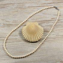 Potátó, fehér tenyésztett gyöngy nyaklánc, 5,5-6 mm, 50 cm (AA)