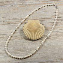 Potátó, fehér tenyésztett gyöngy nyaklánc, 6-7 mm, 50 cm (A)