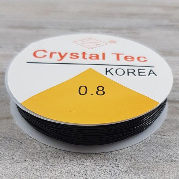 Gumidamil, fekete, 0,8 mm (kb. 10 m)
