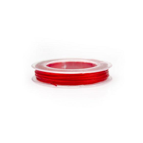 Gumidamil, szálas, piros, 0,8 mm (kb. 10 m)