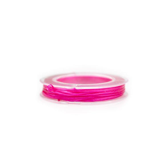 Gumidamil, szálas, pink, 0,8 mm (kb. 10 m)