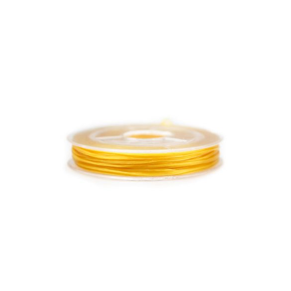 Gumidamil, szálas, sárga, 0,8 mm (kb. 10 m)