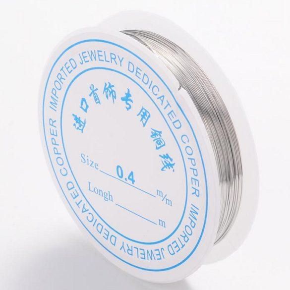Szerelődrót, 0,4 mm, ezüst színű (kb. 15 m)