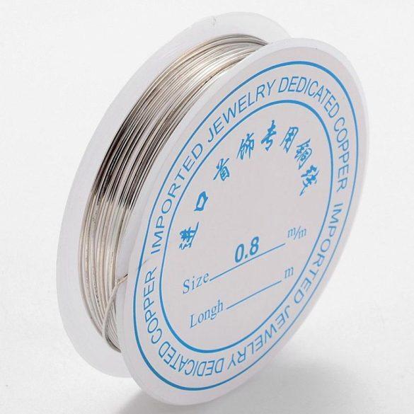 Szerelődrót, 0,8 mm, ezüst színű (kb. 5 m)