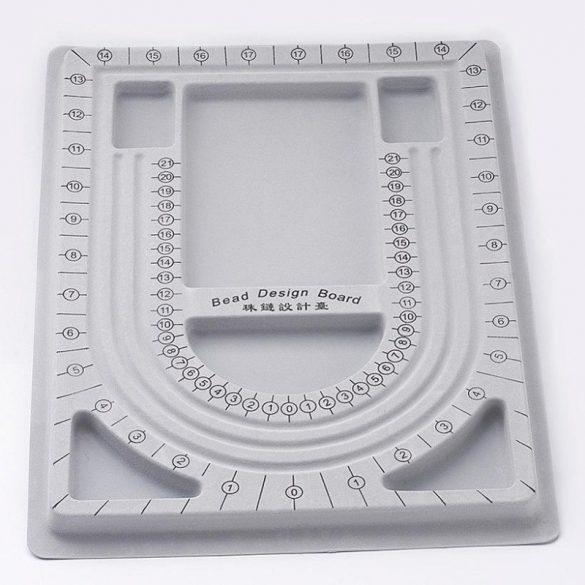 Gyöngyfűző tálca, 24x33 cm