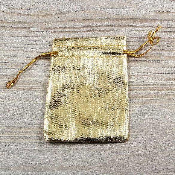 Tasak, vászon, arany színű, 7x9 cm