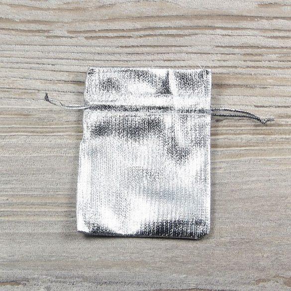 Tasak, vászon, ezüst színű, 7x9 cm
