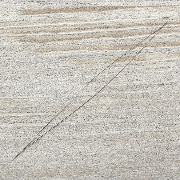 Gyöngyfűző tű, hosszú lyukú, kb. 100 mm