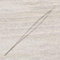 Gyöngyfűző tű, hosszú lyukú, kb. 55 mm