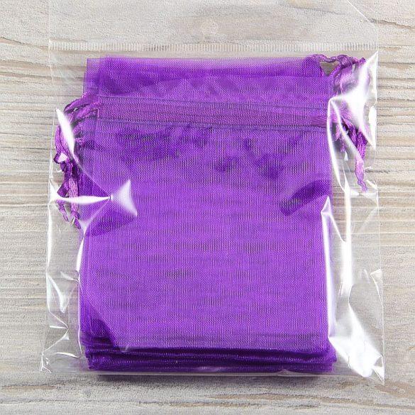 Tasak, tüll, kb. 10x12 cm, sötétlila (10 db)