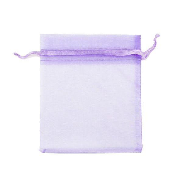 Tasak, tüll, kb. 10x12 cm, világos lila