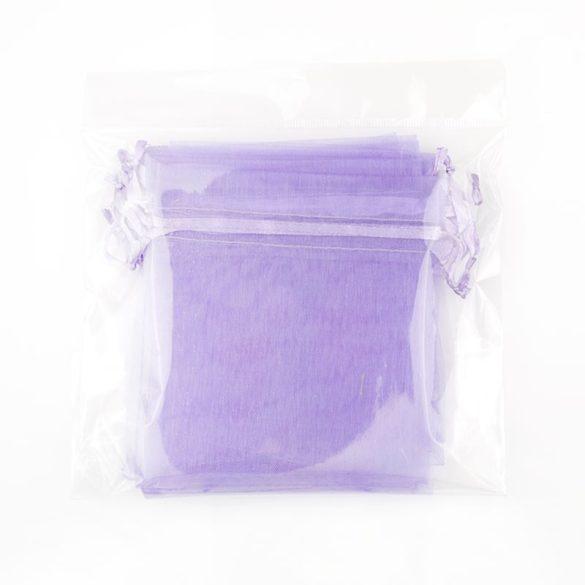 Tasak, tüll, kb. 10x12 cm, világos lila (10 db)