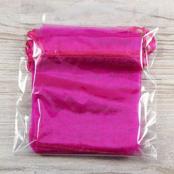 Tasak, tüll, kb. 10x12 cm, pink (10 db)