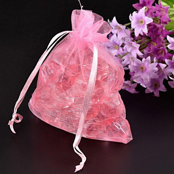 Tasak, tüll, kb. 10x12 cm, rózsaszín (10 db)
