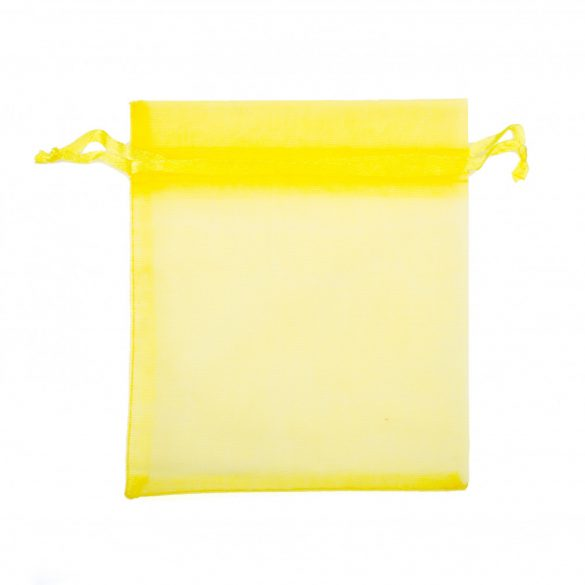 Tasak, tüll, kb. 10x12 cm, citromsárga