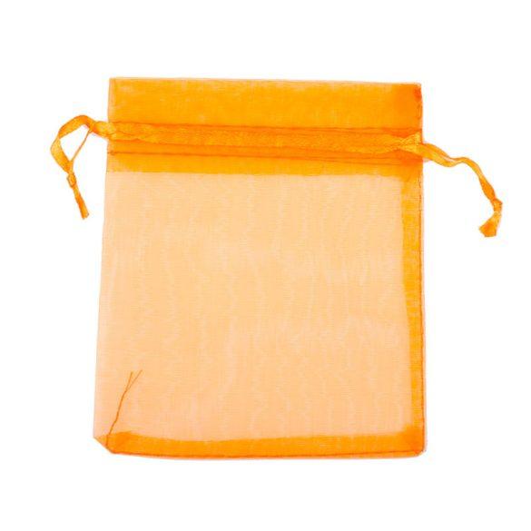 Tasak, tüll, kb. 10x12 cm, narancssárga