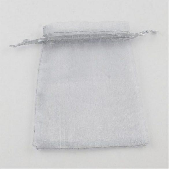 Tasak, tüll, kb. 10x12 cm, szürke (10 db)