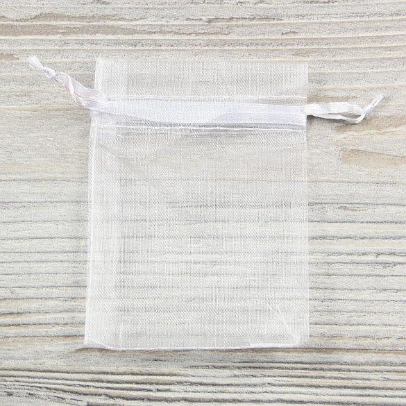 Tasak, tüll, kb. 7x9 cm, fehér (10 db)