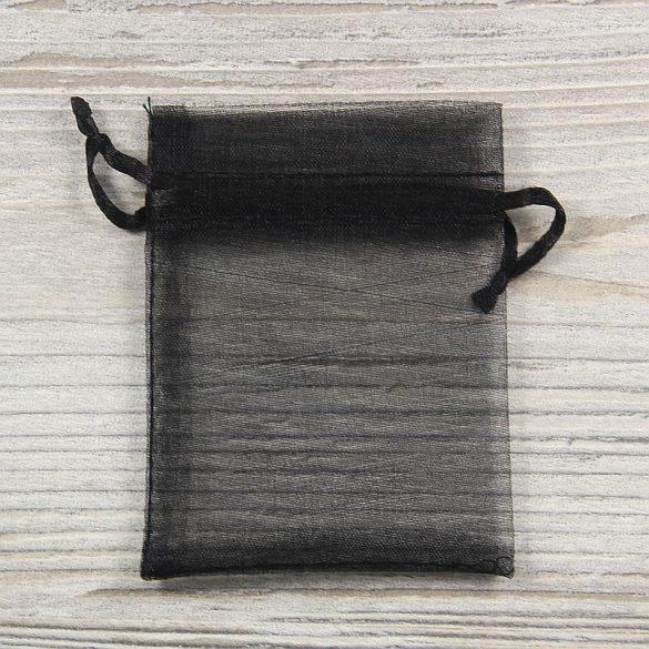 Tasak, tüll, kb. 7x9 cm, fekete