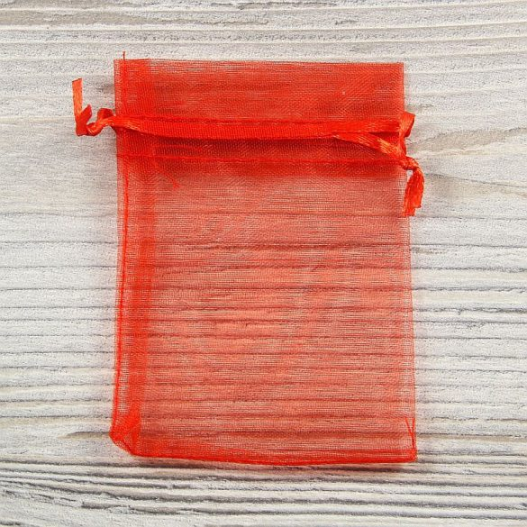 Tasak, tüll, kb. 7x9 cm, piros
