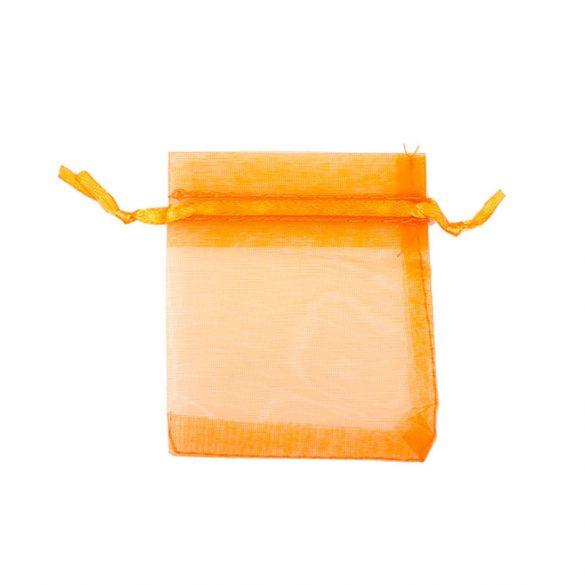 Tasak, tüll, kb. 7x9 cm, világos narancssárga